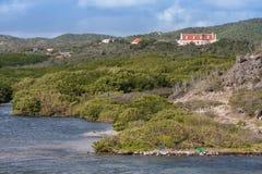Uppstigning Landhuis Curacao royaltyfria bilder