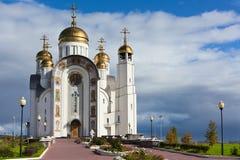 uppstigningchrist kyrka royaltyfria bilder