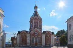 Uppstigningdomkyrka i mitten av den Kasimov staden, Ryssland Arkivfoto