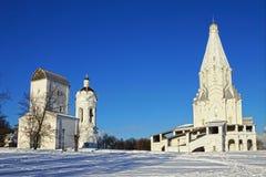 Uppstigningkyrka i Kolomenskoe, Moskva, Ryssland Royaltyfria Foton