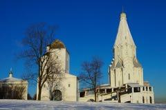 Uppstigningkyrka i Kolomenskoe, Moskva, Ryssland Royaltyfri Bild