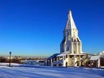 Uppstigningkyrka i Kolomenskoe, Moskva, Ryssland. Royaltyfri Foto