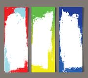 Uppsättning av abstrakt baner Royaltyfri Foto