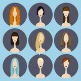 Uppsättning av avatarsymboler Royaltyfri Bild