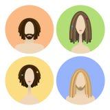 Uppsättning av avatarsymboler Fotografering för Bildbyråer