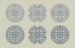 Uppsättning av de keltiska cirklarna Royaltyfri Bild