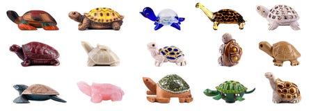 Uppsättning av dekorativa sköldpaddor Arkivfoto