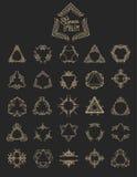 Uppsättning av den eleganta monogramdesignen också vektor för coreldrawillustration Royaltyfria Foton