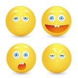 Uppsättning av emoticons. Fotografering för Bildbyråer
