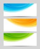 Uppsättning av färgrika baner Royaltyfri Foto