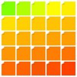 Uppsättning av färgrika etiketter med det vikta hörnet Royaltyfri Foto