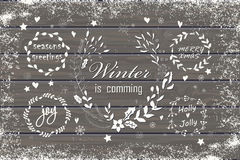 Uppsättning av jul och diagrambeståndsdelar för nytt år Arkivfoton