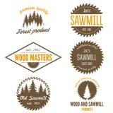 Uppsättning av logo, etiketter, emblem och logotypbeståndsdelar Arkivbild