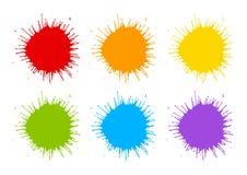Uppsättning av målarfärgfärgstänk Royaltyfri Fotografi