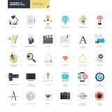 Uppsättning av moderna plana designsymboler för diagram- och rengöringsdukformgivare Fotografering för Bildbyråer