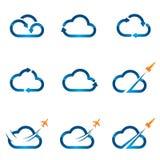 Uppsättning av molnsymboler 1 Arkivfoto