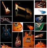 Uppsättning av nära övre för gitarr Fotografering för Bildbyråer