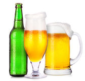 Uppsättning av olika alkoholistdrinkar och coctailar Royaltyfri Bild
