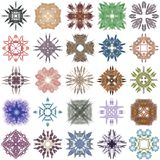 Uppsättning av olika kulöra modeller på en abstrakt fractal Royaltyfria Foton