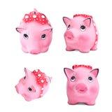Uppsättning av piggy moneybox Royaltyfri Foto
