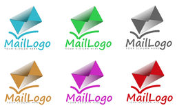 Uppsättning av posttecken eller logoer Royaltyfri Bild