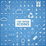 Uppsättning av 100 rengöringsduk, internet, kontor, dator och tra Arkivbild