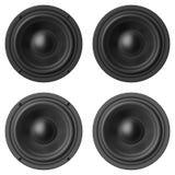Uppsättning av solida högtalare som isoleras på vit bakgrund Arkivfoton
