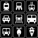 Uppsättning av symboler - transport, lopp, vilar Royaltyfria Bilder