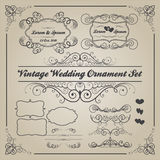 Uppsättning av tappningbröllopprydnader och dekorativa beståndsdelar Royaltyfri Fotografi