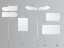 Uppsättning av tomma vektorvägmärken som isoleras på genomskinlig bakgrund Fotografering för Bildbyråer