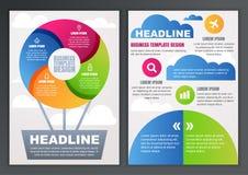 Uppsättning av vektordesignmallen för affär, broschyr, reklamblad, pos. Arkivfoton