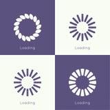 Uppsättning av vektordownloaders Arkivbilder