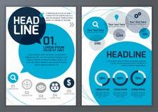 Uppsättning av vektormallen för broschyren, reklamblad, affisch, applikation Fotografering för Bildbyråer