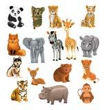 Uppsättning av vilda djur Arkivbilder