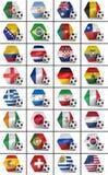 Uppsättning för fotbollmästerskapnationer Arkivbilder