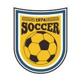 Uppsättning för fotbollteckenvektor Arkivfoton
