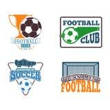 Uppsättning för fotbollteckenvektor Royaltyfria Bilder