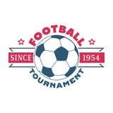 Uppsättning för fotbollteckenvektor Arkivfoto