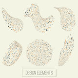 Uppsättning för logo för affär 3d för vektor abstrakt för ditt Arkivfoton