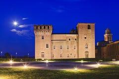 Uppsättning för Mantua slottsida Arkivbild