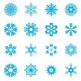 Uppsättning för snöflingavektorillustratör Fotografering för Bildbyråer