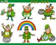 Uppsättning för St Patrick dagtecknad film Royaltyfri Fotografi