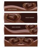 Uppsättning för vektorchokladbakgrund Efterrättillustration Royaltyfri Foto