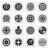 Uppsättning för vektormålsymbol Arkivfoton