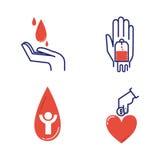 Uppsättning för volontärsymbolsvektor Royaltyfri Bild