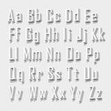 Uppsättningbokstav för stilsort 3d vektor Arkivfoton