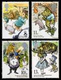 Barn bokar portostämplar Royaltyfri Fotografi
