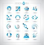 Uppsättningen av designbeståndsdelar för ditt projekterar Arkivbild