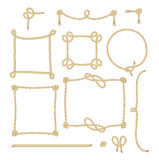 Uppsättningen av det enkla repet inramar grafiska designer Royaltyfri Fotografi
