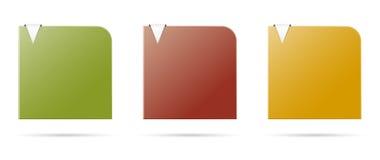 Uppsättningen av färgar mallar Royaltyfri Bild